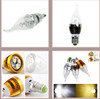 Mediterranean LED Candle Bulb 3W Golden Sliver Shell Lamp Warm White Ceiling Lamp