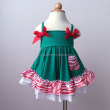 Wholesale Children Boutique Clothe Fo Infant And Toddler Christmas Pajamas With 100%Cotton Kids Persnickety Clothing Set