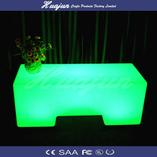 sophisticated rectangular table / lighting rechargeable furniture