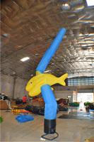 special fish inflatable advertising dancer showing animals attract children filled the air dancer