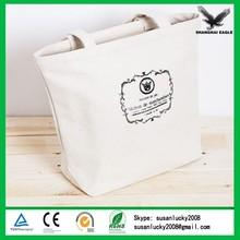 Custom cotton canvas utility tote bag