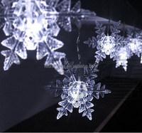 2016 New Product custom christmas led snowflake led string light for christmas
