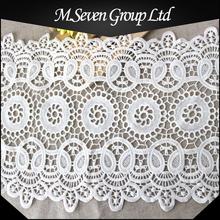 Crochet mayorista de encaje de algodón, tela de encaje de ganchillo al por mayor, ganchillo del cordón por accesorios