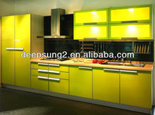 stylish bright yellow color kitchen cabinet make it unique