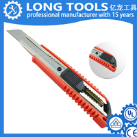good quality Popular PP Handles Military Auto-Retractable Safety Utility Knife
