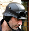 Motorcycle HALF face helmet with DOT, CE approved EURO TYPE CHROME HELMET alibaba china helmet