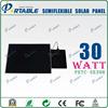 solar panel glasses 30W semi flexible solar cell battery charger