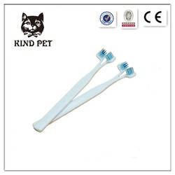 2015 pet supplier of two heads pet tooth brush