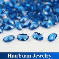 hot sale oval London blue synthetic Nano gems