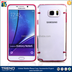 transparent plastic cover case for samsung galaxy note 5