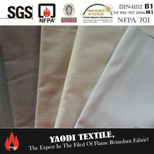 100% polyester inherent flame retardant 3 pass coated blackout/blackout lining curtain fabric
