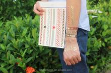 High Quality Waterproof Gold metallic Naked Body Tattoo Sticker Jewelry
