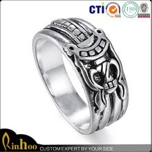 Wholesale mens silver plated alloy cheap rings with factory price