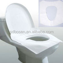 Disposable custom made sanitary water soluble tissue paper toilet seat cover for travelling