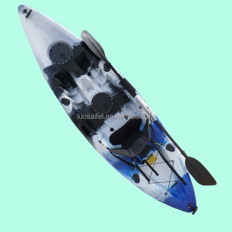 Cheap single sit on top fishing kayak canno boat hot for Fishing kayaks for sale cheap