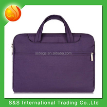 16 inch Purple Multi-functional Polyester Business Laptop Pouch Sleeve Case Bag Carrying Handbag Briefcase Laptop Messenge