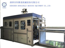 transparent custom shape pvc/pet/pp disposable dishes/food container making machine