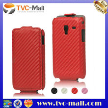 Carbon Fiber Leather Hard Cvoer for Samsung Galaxy Ace Plus S7500