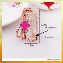 Metal Crystal Clover Shaped Key Chain for Lady RE 051