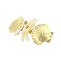 New Arrival Pearl Jewelry Balanced Double Shell Girls Hair Accessories Wholesale Fashion Hair Pins