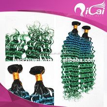 High quality virgin indian colored ombre hair three tone hair extension