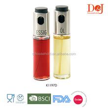 K1197D set of 2pcs 100ml glass vinegar and oil sprayer