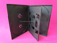 holder for sale plastic PP 14mm black dvd case 6 disc