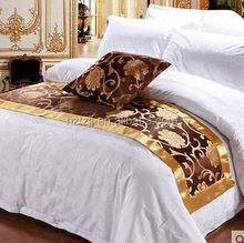 2014 popular 100%cotton wholesale double size comforter sets bed runner