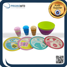Eco Friendly Bamboo Fiber Bamboo Tableware For Kids With Factory Price