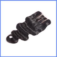 Top Quality Qingdao Factory Price 5X5 Body Wave 100% Brazilian Virgin Human Hair Three Way Part Lace Closure