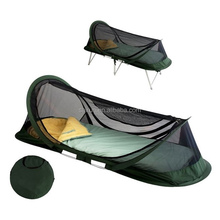 Pyramid outdoor pop up portable travel treated mosquito net for hiking and camping