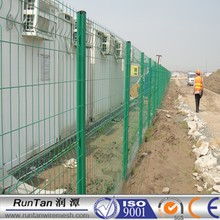 Hot Dip Galvanized /Electrostatic Powder Painted welded panel fence with peach post