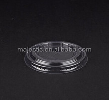 Food plastic disposable uptake lid use to milk or coffee cup