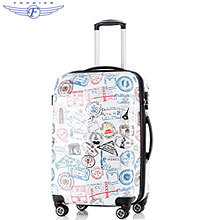 Stamp Printed Hard Shell ABS PC luggage case