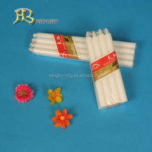 thin pillar white household candles