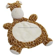 Cute giraffe plush toy plush kids baby play gym mat foldable cheap animal toy baby activity mat
