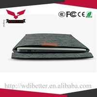 13.3 Inch Laptop Leather Sleeve Carry Case Cover For Apple For Macbook Air Brown