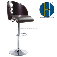 Wooden adjustable pu cushion bar stools wholesale ,bar chair for home, cafe and club