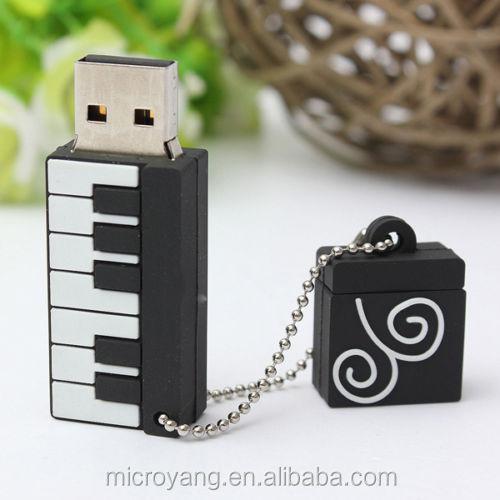 De dibujos animados Mini Piano forma USB 20 memoria Flash Stick