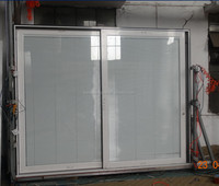 Quality aluminium sliding door with insert blind