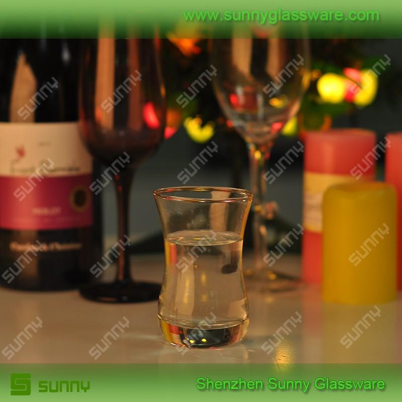 Mini transparent water cup Turkish tequila shot glass