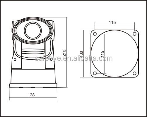 car head camera pan tilt units ptz rotator outdoor analog