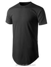 2015 latest custom 100% combed cotton men longline t shirt