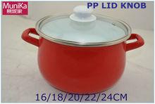 non-stick steel cookware set/red cookware pot set/german cookware set,Enamel cooking casserole decorated kitchenware pot set