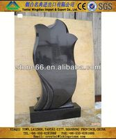 best-sell natural black galaxy tombstone headstone
