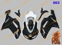 ABS Injection Molding Aftermarket Fairing bodywork cowling Fairing Kits Face Cover Ninja ZX6R 636 07 08 color003 black white