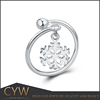 CYW finger ring designs , women accessories 925 silver ring rhodium plated jewelry