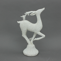 High Quality Wholesale Resin White Reindeer Christmas Home Decor Accents