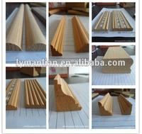 triangular wood moulding/teak wood carved moulding/engineered wood moulding