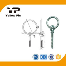 Ring Bolt with Wood Screw HDP, marine hardware in shackle, turbuckle u-bolt cleat bollard anchor chain paddle swivel